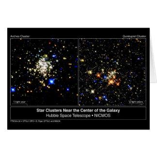 Arcos y cúmulos de estrellas del Quintuplet Tarjeta De Felicitación