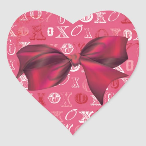 Arcos y rosas de XXOO que hacen juego el sistema Pegatina En Forma De Corazón