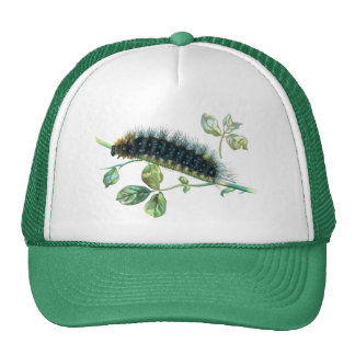 Arctia caja caterpillar trucker hat