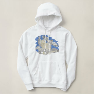 Arctic Animals Embroidered Hoodie