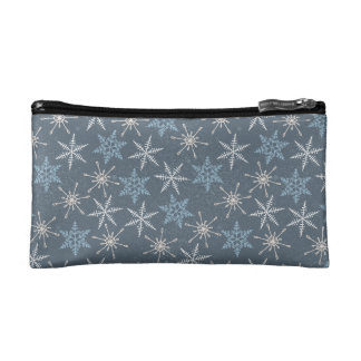 Arctic Animals in Space Pattern Cosmetic Bag