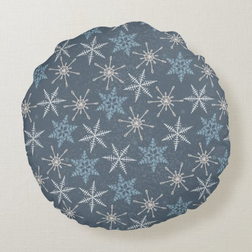 Round Animal Pillows : Arctic Animals in Space Pattern Round Pillow Zazzle