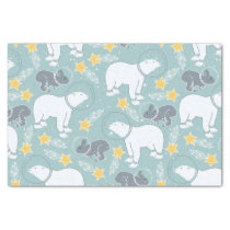 Arctic Animals in Space Pattern Tissue Paper