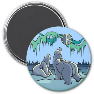 Arctic Art Fridge Magnet Polar Bear Art Gifts