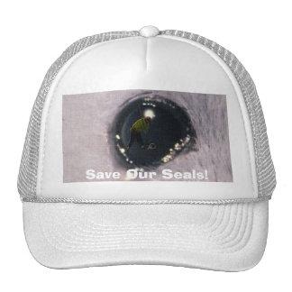 Arctic Baby Harp Seal Eye Wildlife Supporter Hat