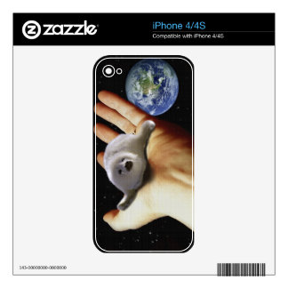 Arctic Baby Harp Seal & Planet Earth Decals For The iPhone 4S