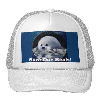 Arctic Baby Harp Seal Wildlife Supporter Hat