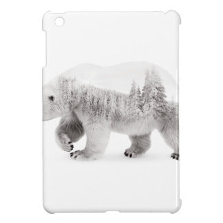 Arctic bear Black and white iPad Mini Covers