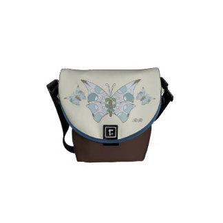 Arctic Blue Camo Butterflies Mini Messenger Bag