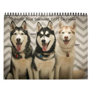 Arctic Blue Siberians  2015 Calendar