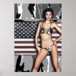 Arctic Camo Bikini Babe Poster