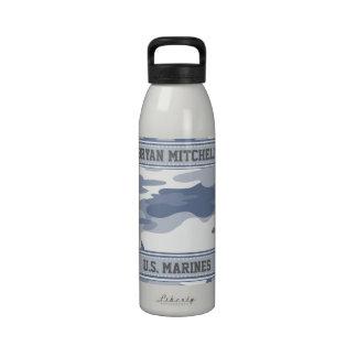 Arctic Camo Military Name Liberty Bottle Drinking Bottle