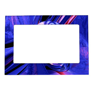 Arctic Chill Abstract Magnetic Photo Frame