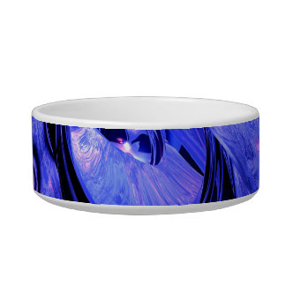 Arctic Chill Abstract Pet Water Bowl