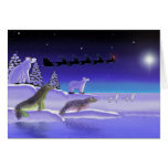 Arctic Christmas Eve Greeting Card