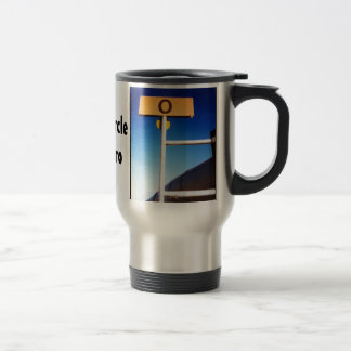 Arctic Circle Alaskan Pipeline Mile Zero Travel Mug
