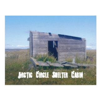arctic cirlce cabin, Arctic Circle Shelter Cabin Postcard
