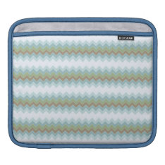 Arctic Colors Chevron Zigzag Ipad Sleeve H at Zazzle