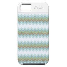 Arctic Colors Chevron Zigzag Iphone 5 Vibe Iphone Se/5/5s Case at Zazzle