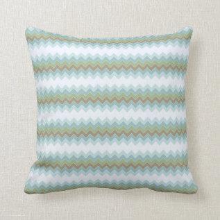 Arctic Colors Chevron Zigzag Throw Pillow at Zazzle