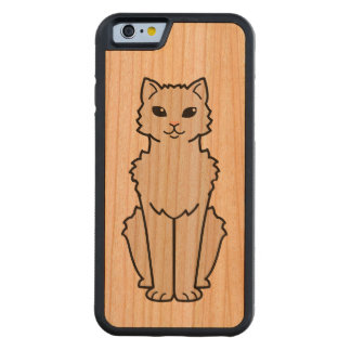 Arctic Curl Cat Cartoon Carved Cherry iPhone 6 Bumper Case
