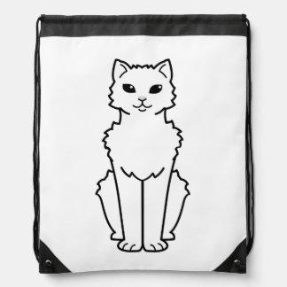 Arctic Curl Cat Cartoon Drawstring Bag