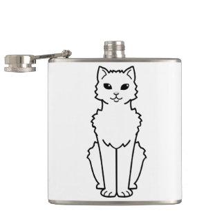 Arctic Curl Cat Cartoon Flask