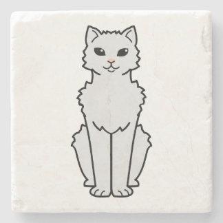 Arctic Curl Cat Cartoon Stone Beverage Coaster