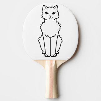 Arctic Curl Cat Cartoon Ping Pong Paddle