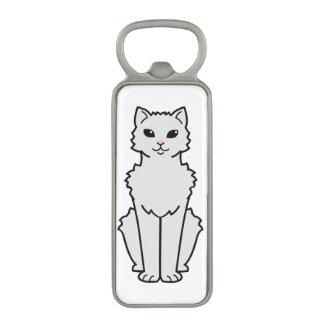 Arctic Curl Cat Cartoon Magnetic Bottle Opener