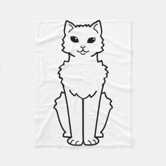Arctic Curl Cat Cartoon Fleece Blanket