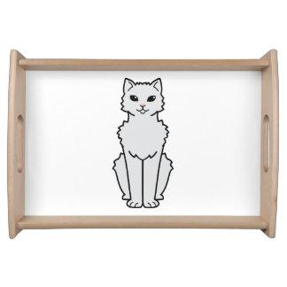 Arctic Curl Cat Cartoon Serving Tray