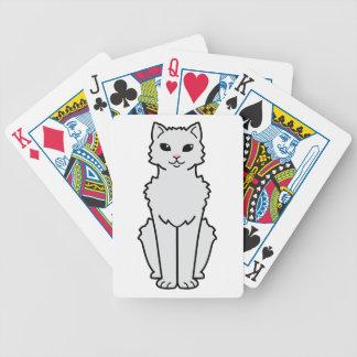 Arctic Curl Cat Cartoon Bicycle Playing Cards