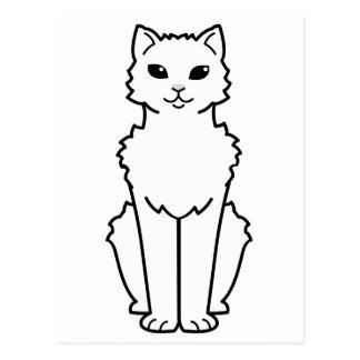 Arctic Curl Cat Cartoon Postcard