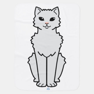 Arctic Curl Cat Cartoon Swaddle Blanket