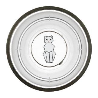 Arctic Curl Cat Cartoon Pet Bowl