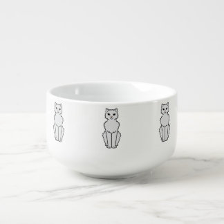 Arctic Curl Cat Cartoon Soup Mug