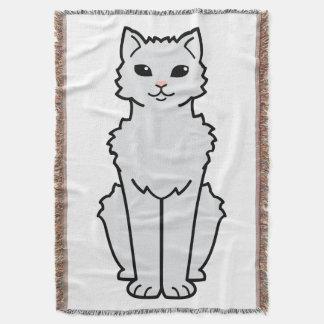 Arctic Curl Cat Cartoon Throw