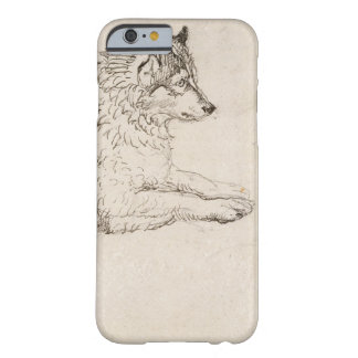 Arctic Dog, Facing Right (pencil on paper) Barely There iPhone 6 Case
