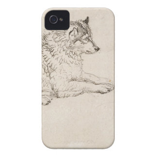 Arctic Dog, Facing Right (pencil on paper) iPhone 4 Cover