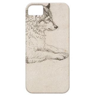 Arctic Dog, Facing Right (pencil on paper) iPhone SE/5/5s Case
