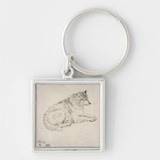 Arctic Dog, Facing Right (pencil on paper) Keychains