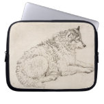 Arctic Dog, Facing Right (pencil on paper) Laptop Sleeves
