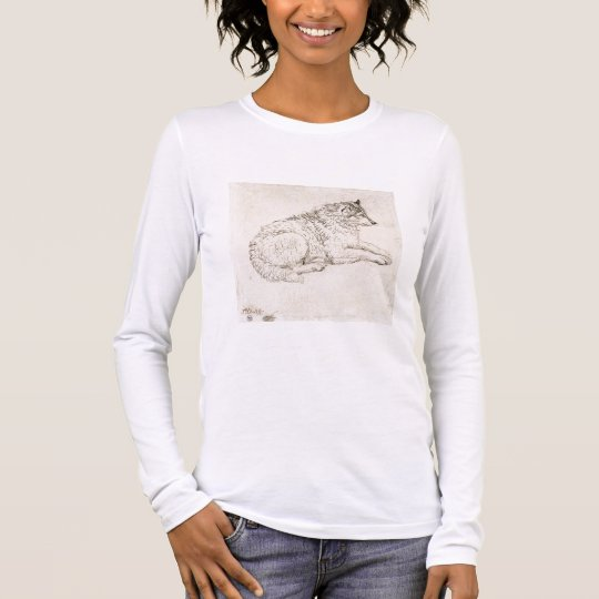 Arctic Dog, Facing Right (pencil on paper) Long Sleeve T-Shirt