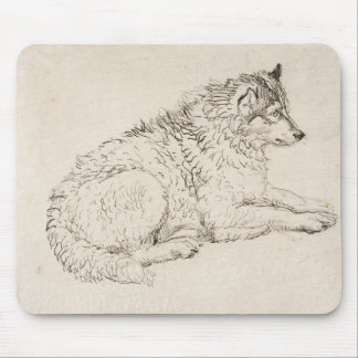 Arctic Dog, Facing Right (pencil on paper) Mouse Pad