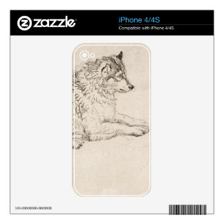 Arctic Dog, Facing Right (pencil on paper) Skin For The iPhone 4S