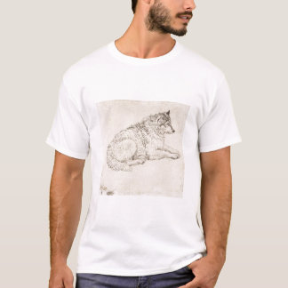 Arctic Dog, Facing Right (pencil on paper) T-Shirt