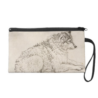 Arctic Dog, Facing Right (pencil on paper) Wristlet
