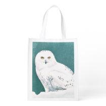 Arctic Eyes Grocery Bag