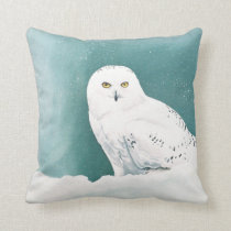 Arctic Eyes Throw Pillow